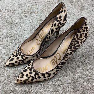 Sam Edelman animal calf heels 8